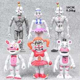 Movable toy doll online shopping - 6 Set Five Nights at Freddy s PVC cm toys Sister Edition Fazbear Bear Doll baby Movable Action Figure Toy B