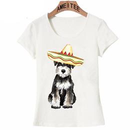 Chinese  Fiesta Miniature Schnauzer print T-Shirt fashion women short sleeve summer hipster cool woman t-shirt casual Tops cute girl Tee manufacturers