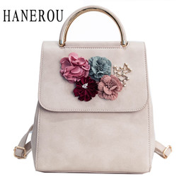 Female Dresses NZ - 2017 Fashion Flower Female Backpack Women Preppy Style School Bag For Teenagers High Quality PU Leather Backpack New Sac A Dos