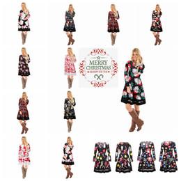 c5664ca1236 14 colors Autumn Winter Women Christmas Dress 2018 Plus Size Print Dress  Midi Elk Snowflake Long Sleeve A-Line Party Dress MMA547 12pcs