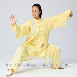 f7ce8b221 Chinese Tai chi garment Kungfu uniform taijiquan suit outfit Dragon  Embroidery clothes for women men girl boy children adults kids