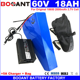 Motor Bicycles Australia - 60V 18AH Triangle E-bike Lithium Battery 1500W 2000W Motor For Original 18650 cell Electric Bicycle Battery 60V free Shipping