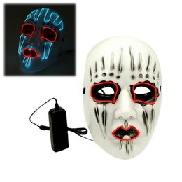 $enCountryForm.capitalKeyWord NZ - Halloween EL wire Mask Flashing Cosplay LED Light Mask Costume Anonymous Mask for Glowing dance Carnival Party Masks