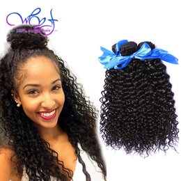 Human Hair Lace Weave Australia - WYF Bundles With Frontal Closure Curly Indian Weave 3 Bundles Curly Weave Wholesale Indian Virgin Human Hair Weave With 13x4 Lace Frontal