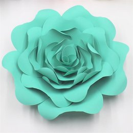 China DIY Half Made Giant Paper Flowers For Wedding & Event Backdrops Deco Baby Nursery Fashion Show Video Tutorials 5 Sizes suppliers