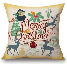 $enCountryForm.capitalKeyWord Australia - Free Shipping Dachshund Deers Pillow Case 45*45cm Linen Cartoon Dogs Cars Owl Christmas hat Pillowcases Christmas gift Home Sofa decorate