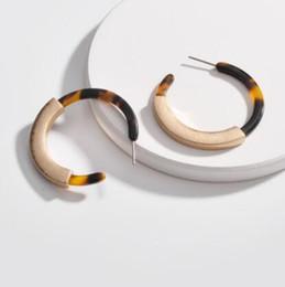 China desigler jewerly earrings for women Acrylic leopard print C shape earrings wholesale hot fashion free of shipping cheap leopard shipping suppliers