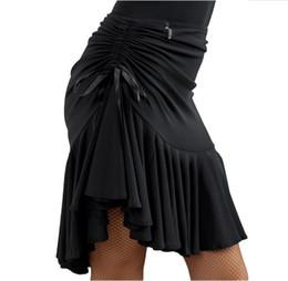 8105e51f4 Salsa latino da donna Tango Rumba Cha Cha Abito da ballo Gonna da ballo  Nero Viola Square Dance Latin Dancewear per le donne