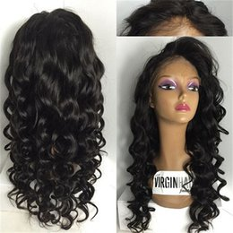 $enCountryForm.capitalKeyWord NZ - Free Parting Silk Base Wig Virgin Brazilian Glueless Full Lace Human Hair Wigs With Baby Hair Loose Wave Silk Top Full Lace Wigs