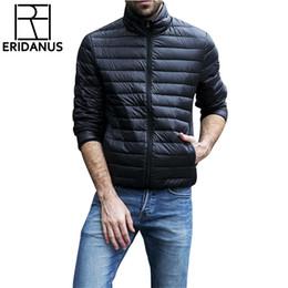 Thin Down Light NZ - 2019 Autumn Winter Jacket Men 2016 New Couples Thin Coats 90% Duck Down Ultra-light Slim Stand-Collar Cotton-Padded Solid Parkas X353