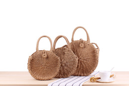 $enCountryForm.capitalKeyWord NZ - Factory direct ins new holiday beach woven bag round hand strap shoulder dual-use wild casual straw bag