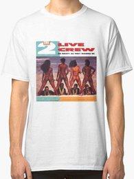 T-SHIRT S-5XL NEW RARE 2 Live Crew New Uomo Bianco in Offerta