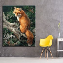 $enCountryForm.capitalKeyWord Canada - Animals Fox DIY Painting By Numbers Kits Drawing Handpainted On Canvas Acrylic Coloring Oil Pictures Living Room Wall Art Decor