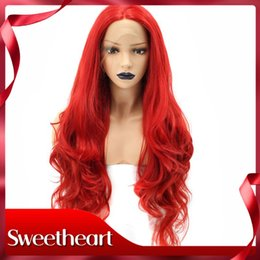 $enCountryForm.capitalKeyWord Australia - New Style Sexy High Temperature Fiber Peruca Perruque Red Full Hair Wigs Long Body Wave Synthetic Lace Front Wig For Women Costume Cosplay
