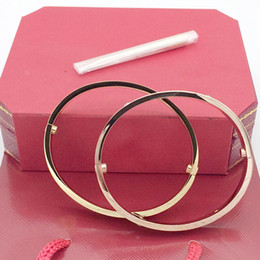 Wholesale HOT gold chains for men stainless steel bangle luxury designer jewelry women bracelets screw love bracelet wedding rings sets with bag