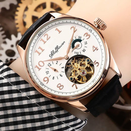 water resistant gold 2019 - ICW luxury watches mens watches automatic brand watch fashion leather belt waterproof mechanical quality watch wholesale