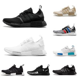 PoPular trainers online shopping - Popular NMD R1 mens running shoes Oreo black beige Beige black japan triple white women trainer sneakers sports shoes size