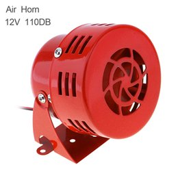 Discount 12v car siren horn - Universal 12V Red Automotive Motorcycle Horns Air Raid Siren Horn Car Truck Motor Driven Alarm Loudspeaker AUP_44B