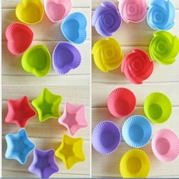 cupcakes types Australia - 50pcs Silicone Mold Heart Cupcake Soap Silicone Cake Mould Muffin Baking Mold Tools Bakery Pastry Bakeware Kitchen four types for choose