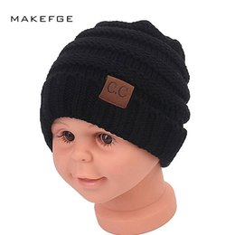 Baby Boy Skull Crochet Beanies Australia - Baby Beanie Hats Kids Girl Boy Winter Hat Baby Soft Warm Beanie Cap Crochet Elasticity Knit Hats Children Casual Ear Warmer Cap