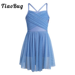 801dd2aec2e1 TiaoBug 4-12 Years Sleeveless Ruffled Glittery Mesh Kids Girl Tulle Ballet  Dress Gymnastics Leotard Dance Wear Girls Clothes