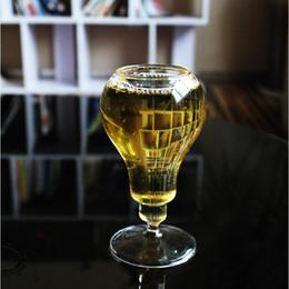 Vintage saddles online shopping - Cute Vintage Style Bulb Shape Beer Cup Creative Novelty Modern Wine Glass For Bar Home Desktop Decoration Fashion Steins tr Z