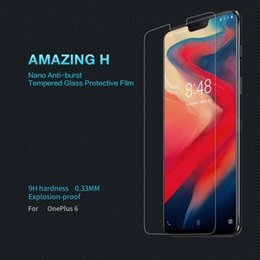 Oneplus 6 safety glass One plus 6 protective film NILLKIN Amazing H  Anti-Explosion transparent clear Tempered glass eb0882c62fd7