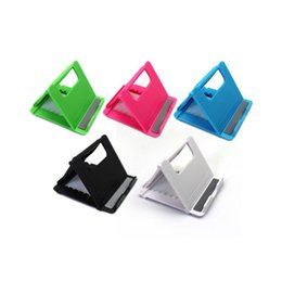 Wholesale Universal Folding Table cell phone support Plastic holder desktop stand for your phone Smartphone Tablet Support Phone holder