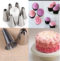 $enCountryForm.capitalKeyWord Australia - 6 Pcs set Cake Fondant Pastry Icing Cream Decorating Bag Piping Nozzles +1 Coupler