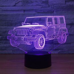 $enCountryForm.capitalKeyWord Australia - Jeep 3D Optical Illusion Lamp Night Light DC 5V USB Powered 5th Battery Wholesale Dropshipping Free Shippin