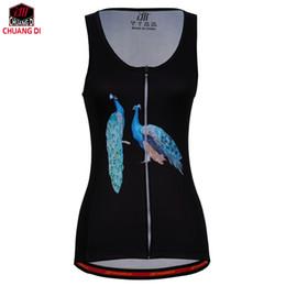 $enCountryForm.capitalKeyWord Canada - Black peacock Women Vest Sport Sleeveless Clothes Running Shirt Mesh Fabric Bike MTB Road Breathable Sportswear Top Cycling Vest