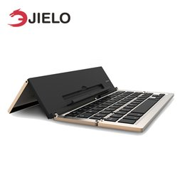 portable keyboard for android tablet Canada - JIELO New Arrival Foldable and Portable Bluetooth 3.0 Wireless Laptop Tablet Phone Mini Keyboard for Android IOS Mac Windows