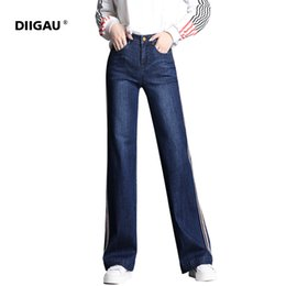 2019 Womens Patchwork Jeans Denim Pants Plaid Black High Waist Buttons Ankle Length Wide Leg Pants Casual Hot Sales B91335j Women's Clothing Bottoms