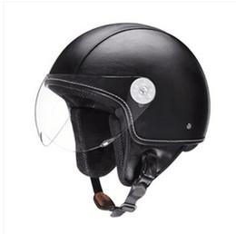 China Retro Cruiser Motorcycle Helmet Chopper 3 4 Open Face Vintage Helmet 381Z Moto Casque Casco motocicleta Capacete Pilot helmets K supplier helmet chopper suppliers