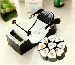 Sushi Rice Mold Cutter Australia - 1Set Magic Sushi Roll Maker DIY Rice Roller Mold Perfect Cutter Easy Sushi Making Machine Kitchen Gadget