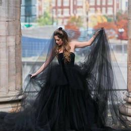 6d732b1197 2018 negro velos de la boda tul largo velo de novia accesorios para el  partido de halloween vestido corto nupcial regalos del partido accesorios  de la boda