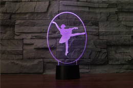 $enCountryForm.capitalKeyWord NZ - Cartoon Ballet dancer Stitch 3D Lamp Bedroom Table Night Light Acrylic Panel USB Cable 7 Colors Change Touch Base Lamp Kids Gift