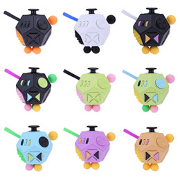 China 12 Side Magic Cube Generation 2 Fidget Cube Squeeze Fun Stress Reliever New Decompression Toy for Adult Children Kids suppliers