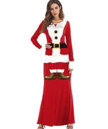 $enCountryForm.capitalKeyWord UK - Christmas costumes stage performance costumes dance party 3D Santa Claus printing school color play ladies dress wholesale sales