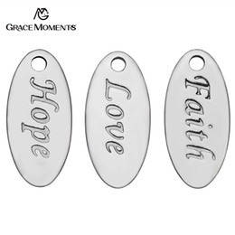 Chinese  30pcs Lot Grace Moments Stainless Steel Charms Hope Love Faith Charms Pendants for Jewelry Making Findings DIY Handmade manufacturers