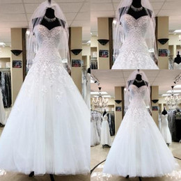 New fashioN special occasioN dresses online shopping - 2018 New Fashion Elegant Wedding Dress A Line Bodice Corset Sweetheart Tulle Lace Appliques Special Occasion Tiered Skirts Wedding Gowns