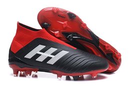 c876bd8a6 Sale Latest Styles Red Black Football Boots Predator 18+ 18.1 FG Soccer  Shoes PREDATOR ACCELERATOR Soccer Cleats Sneakers