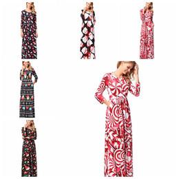 67044cff7577 Fashion Women Christams dress Manica lunga Vintage Flower Print Party Club  Bohemia Maxi Dress Abiti da festa LJJK1105