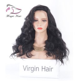 $enCountryForm.capitalKeyWord NZ - Natural Color Wigs For Charming Women Fine Cut Wigs Side Part Brazilian Body Wave Lace Front Human Hair Wigs For Black Women