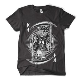 Hipster Clothes Brands NZ - Skull King T Shirt Fashion Print Indie Hipster Design Mens Girls Tee Top New Brand Clothes Summer 2017