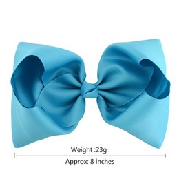 Discount large grosgrain hair bow clip - Baby 8 Inch Grosgrain Ribbon Bow Hairpin Clips Girls Large Bowknot Barrette Kids Hair Boutique Bows Children Hair Access
