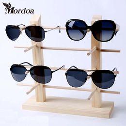 036007c94e9 Mordoa Portable Clear Wood Glasses Display Rack 1-2-3-4-5-6-6-8-10 Pairs  Sunglasses Show Frame Eyeglasses Display Stand Holder