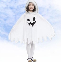 halloween costumes children kids girl witch cosplay costume performance clothes cloak white kid ghost cloak kka5837