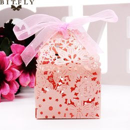 $enCountryForm.capitalKeyWord NZ - heap Gift Bags & Wrapping Supplies 50pcs paper candy box Laser Cutting Flowers Gift Cupcake Boxes for Festival Banquet Decoration par...