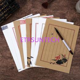 $enCountryForm.capitalKeyWord NZ - (8pcs set) European Style Writing Paper Stationery Pattern Vintage Letterhead Letter Paper For Love Letter QW7895